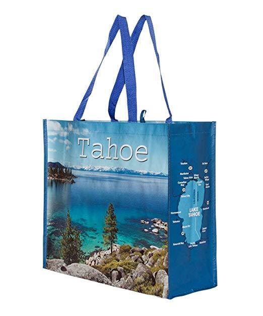 Túi hồ Tahoe có thể tái sử dụng Túi hàng tạp hóa Tote Ảnh với Tahu Ảnh (4 Túi)