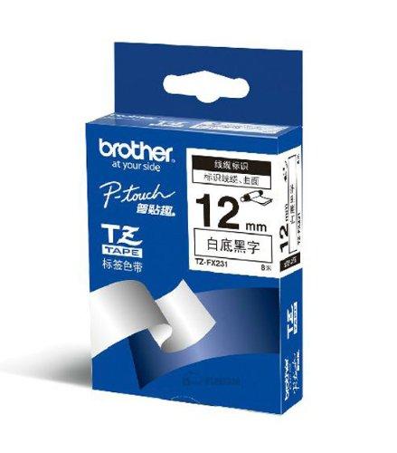 Brother Brothers TZe-231 Ruy băng đen trắng (8 m) (Dành cho PT-18Rz 1010 1280 2030 2100 2430PCz 2730