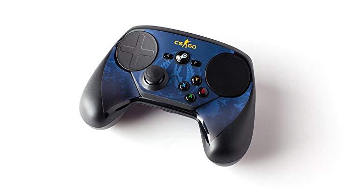 Steam Gamepad với Stickers Counter Strike Ngụy trang màu xanh