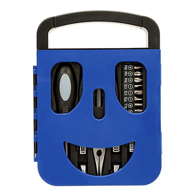 WORKPRO Wan Kebao 22-piece smiley screwdriver set screwdriver kết hợp sáng tạo công cụ TỰ LÀM kỹ thu