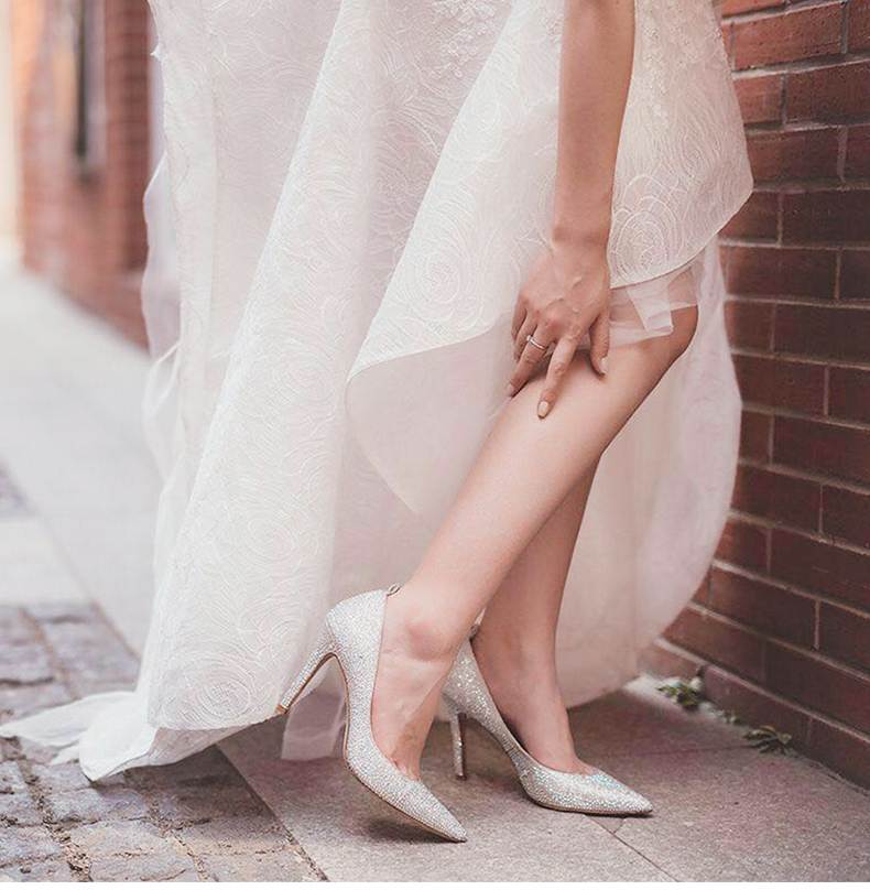 Giày cưới Búp Bê Cao Gót satin cô dâu , Thương Hiệu : 73 Hour