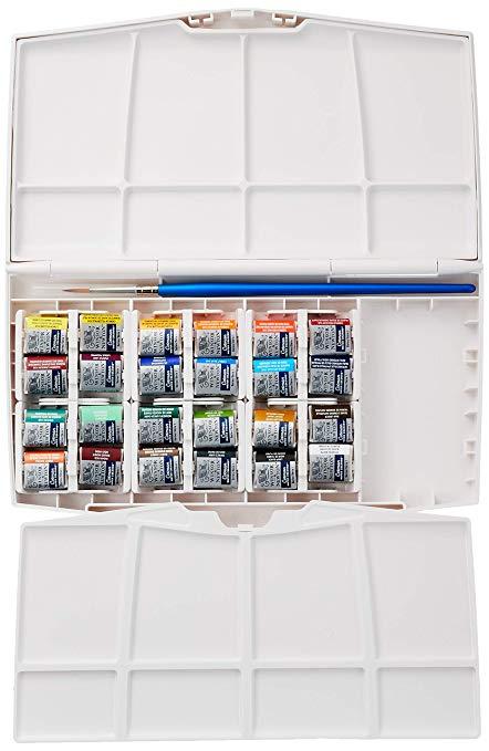 Sơn màu nước Winsor & Newton Cotman, một bộ 24 bảng màu