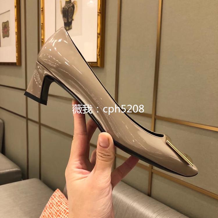 Giày Búp Bê Cao Gót da Bóng dành cho Nữ .