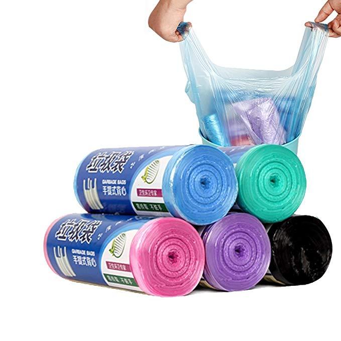 ZHILU [Sáng tạo vest loại xách tay không bẩn tay mang 20 kg] túi rác túi rác dùng một lần vật liệu m