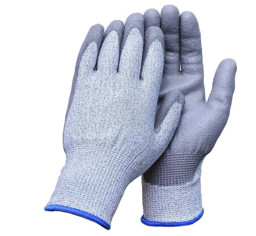 5 giai đoạn ác liệt chống cắt lớp phủ chống mài mòn thở không găng tay chống cắt thủng EN388 nhúng n