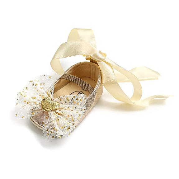 Giày Búp Bê trẻ em , kiểu công chúa ren buột Nơ , Hiệu : Kuner
