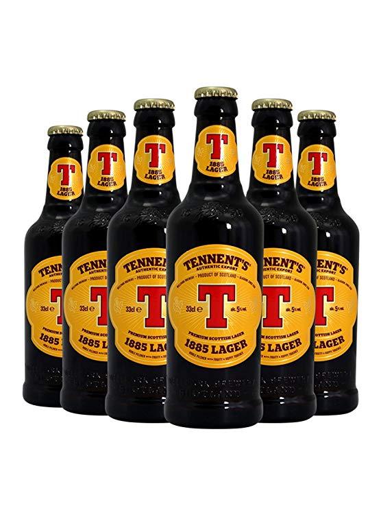 Bia nhập khẩu của Anh Tennent's beer 330ml / chai Bia Anh bia thủ công Bia Lager (6 chai)