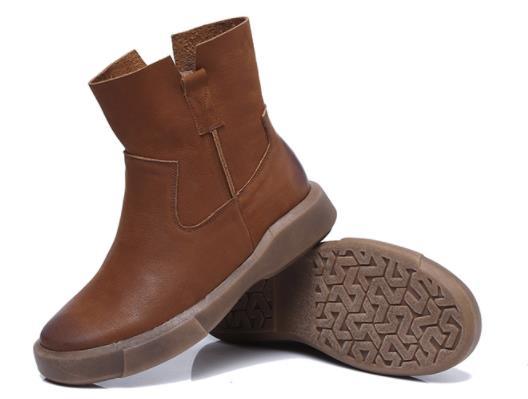 Giày boot Da cổ cao dành cho Nữ .