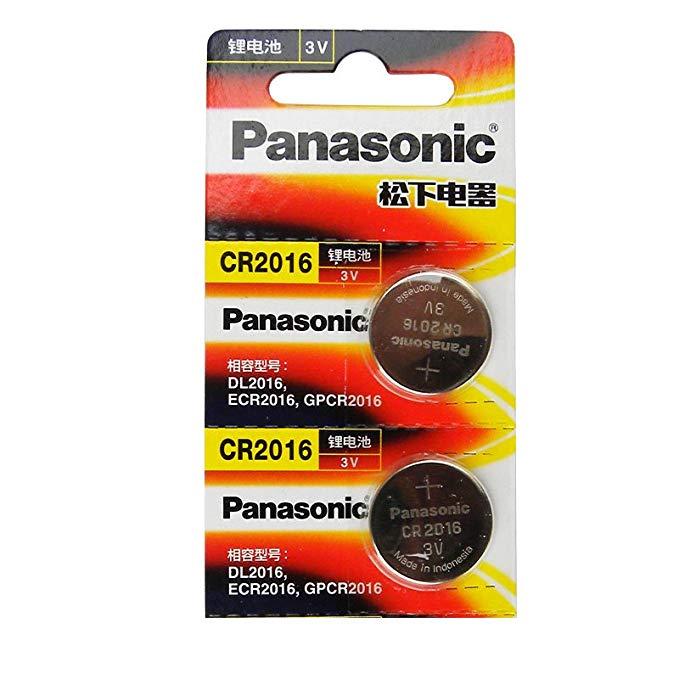 Panasonic Panasonic CR-2016 / 5BC pin lithium 3V loại nút xe máy điện tử xe điều khiển từ xa 2 vòng