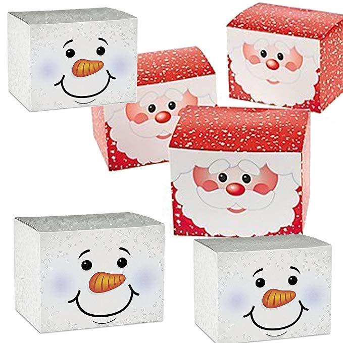 24 Hộp quà tặng Giáng sinh kỳ nghỉ tông - 12 hộp quà tặng Snowman, 12 hộp quà tặng ông già Noel