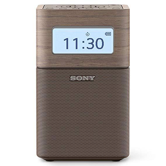 Sony Sony SRF-V1BT / TC CN4 Đồng hồ báo thức Bluetooth Speaker và FM / AM Radio Brown