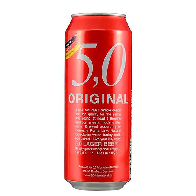 Odinger bia Đức 5.0 lager bia 500 ml * 24 nghe đầy đủ hộp 5.0 500 ML * 24 nghe kết hợp