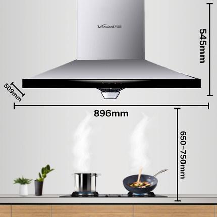 万 和 CXW-200-X55KW phạm vi mui xe hộ gia đình hút hàng đầu tường treo bếp Châu Âu hút lớn khuyến mãi