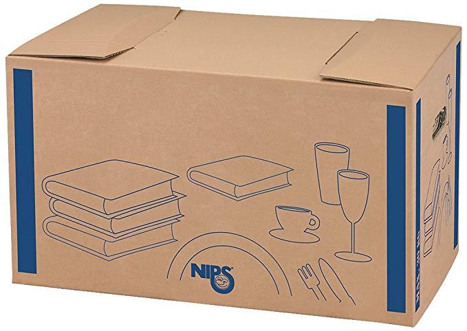 NIPS 118191122 Nướng / GESCHIRR-BOX Gấp các tông (2 W), chiều rộng 58,0 x sâu 33,0 x chiều cao 33,5