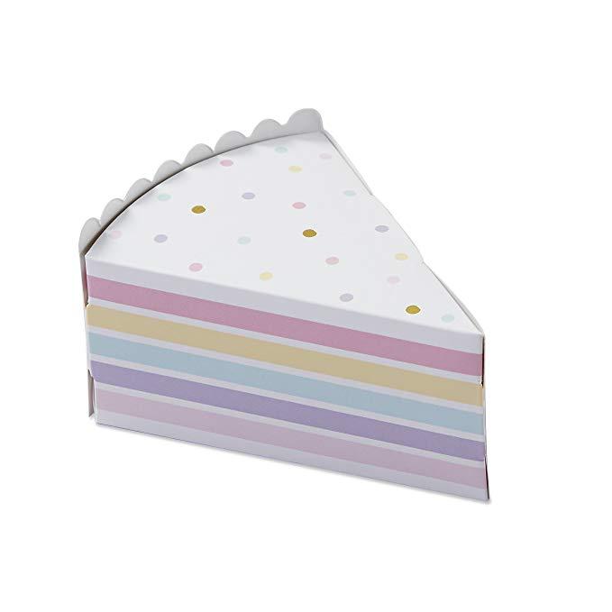 KATE Aspen 28379 NA Bánh lát hộp kẹo Bộ 12) trắng / vàng / hồng / tím và vàng