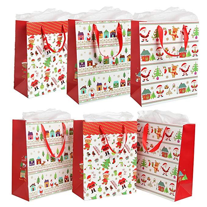 Túi quà tặng và quà tặng Giáng sinh khác nhau của MyGift (St. Texas, Christmas Tree) - Bộ 6 mảnh
