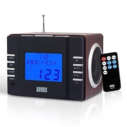 Tháng tám Ocos MB300H Loa Di Động FM Radio Pluggable USB / Thẻ SD Hiển Thị Thời Gian Đồng Hồ Báo Thứ