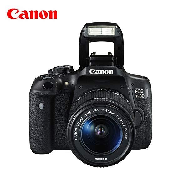 Máy ảnh kỹ thuật số Canon EOS 750D SLR (với ống kính 18-55 IS STM)