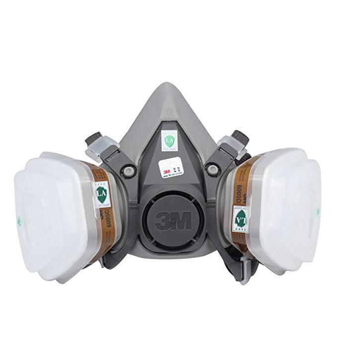 Mặt nạ bảo vệ mặt nạ bảo vệ 3M đặt 6200-6005 bảy mảnh (bảo vệ hơi nước formaldehyde)