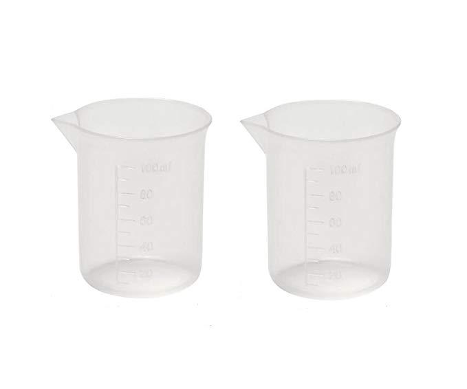 6 miếng 100 ml / 104 gram tái sử dụng nhựa trong suốt phòng thí nghiệm tốt nghiệp bia * đo cup cho c
