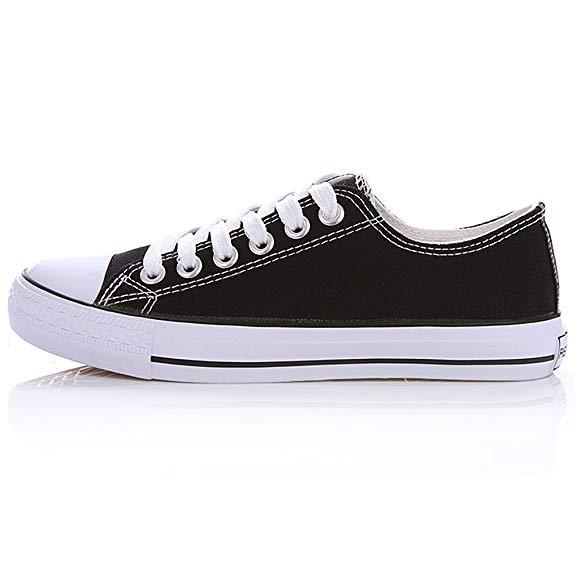 Giày thể thao nam thời trang màu đen mũi trắng