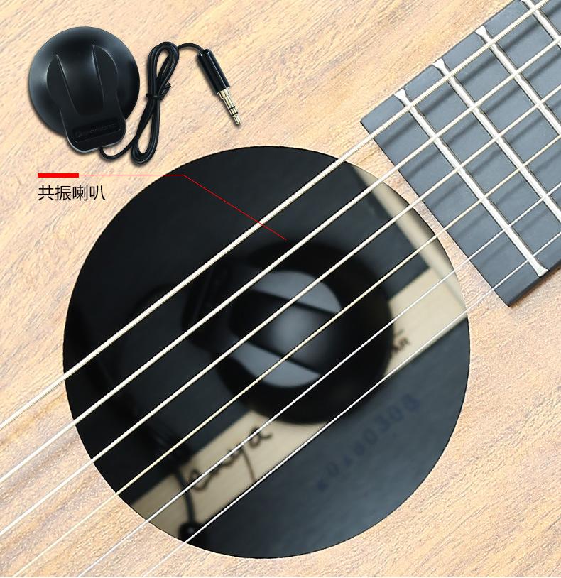 R2 công nghệ đen cùng tần số cộng hưởng bộ phối hợp miễn mở hộp ballad mộc guitar điện biểu diễn thê