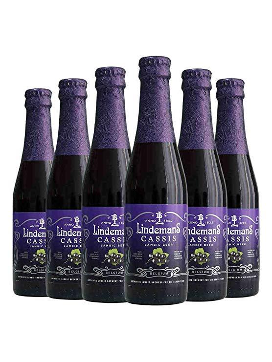 Lindemann Bia Nhập Khẩu Bia Trái Cây Bỉ Lindemans Lindemann Blackcurrant Bia 250 ml x 6 Chai Kết Hợp