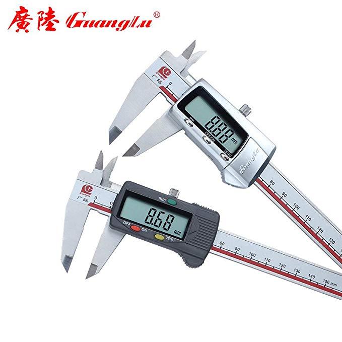 Công cụ đo 0-150-200-300mm điện tử kỹ thuật số caliper thép không gỉ vernier caliper độ chính xác ca