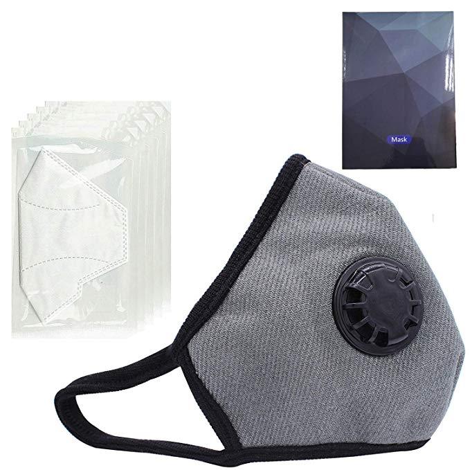 PM2.5 Mặt nạ chống ô nhiễm * Lớp bụi bụi bụi N99 có thể lọc bụi với bộ lọc có thể thay thế dành cho
