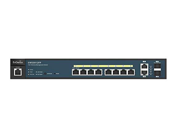 Bộ điều khiển và chuyển mạch EnGenius ews2910p Bộ chuyển đổi POE L2 đen