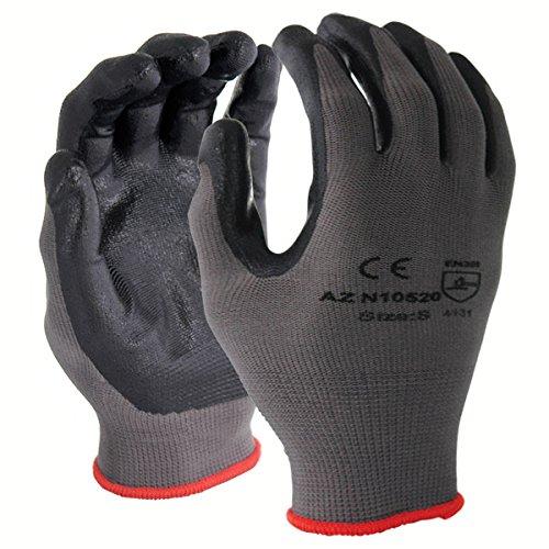 Găng tay Azusa Nylon *, Nhỏ, Xám quá khổ N10520 XL