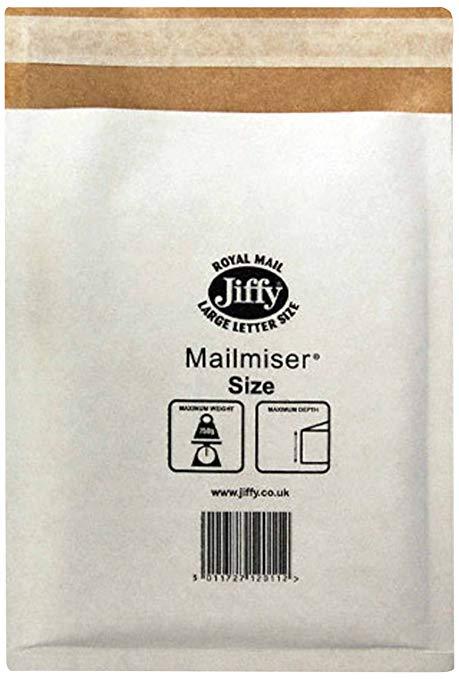 Jiffy Mailmiser Bảo Vệ Phong Bì Bong Bóng Lót 1 Trắng 170x245 mét Tham Khảo JMM-WH-MP1 [10 Túi]