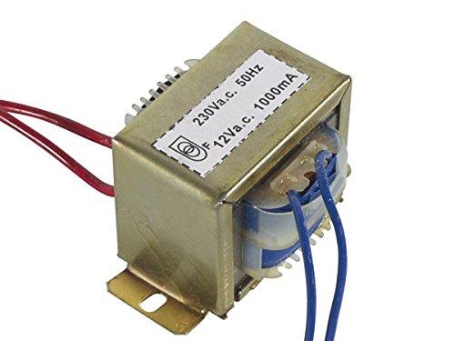 Velleman 112012C 1000 mA mở khung biến áp, 12 V, nhiều màu