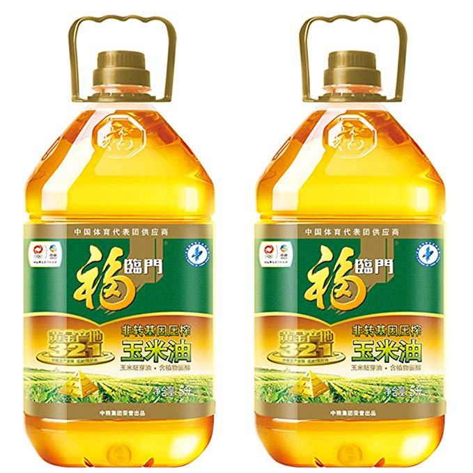 Fulinmen Non-GMO ép vàng nguồn gốc ngô dầu ngô mầm dầu phong phú trong Phytosterols (5L * 2 giảm giá