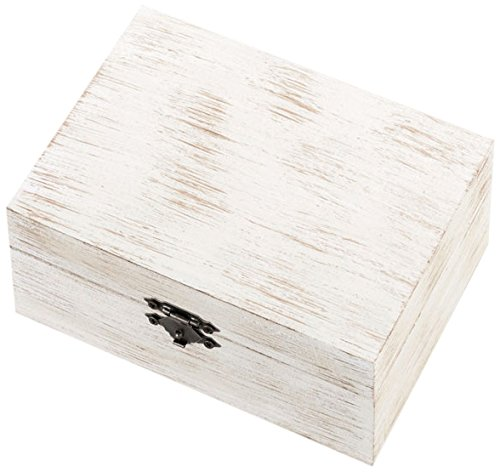 Lillian Rose AZ330001 MM Trắng Mộc Mạc Lady Ring / Cotton Box, Mộc Mạc Trắng