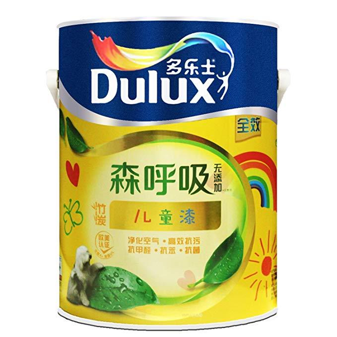 Dulux Dulux Sen thở không thêm sơn than tre trẻ em A8106 5L sơn nội thất màu trắng sơn cao su sơn
