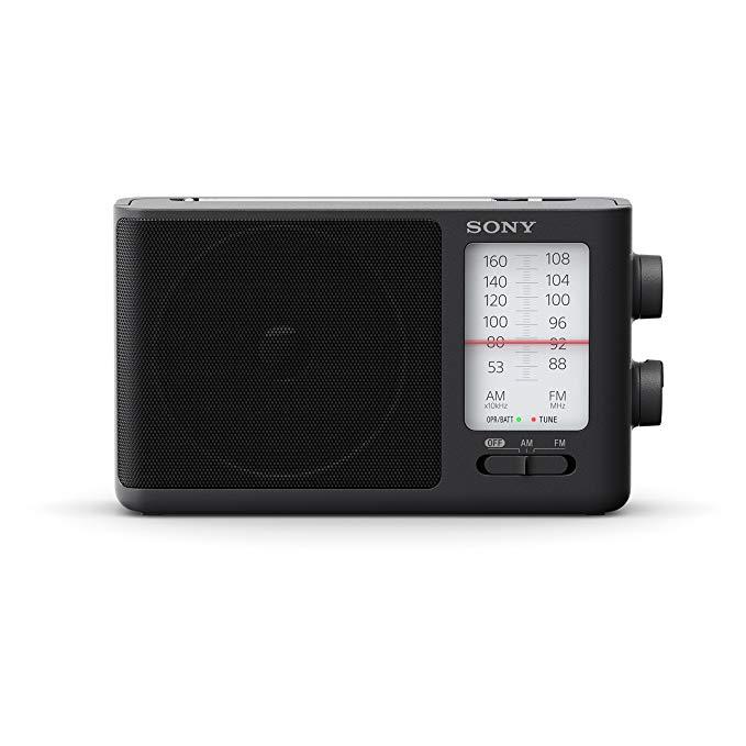 Sony Ericsson ICF-506 Portable Analog Radio (thiết kế retro, âm thanh đầy đủ, có thể cắm hoặc pin đư