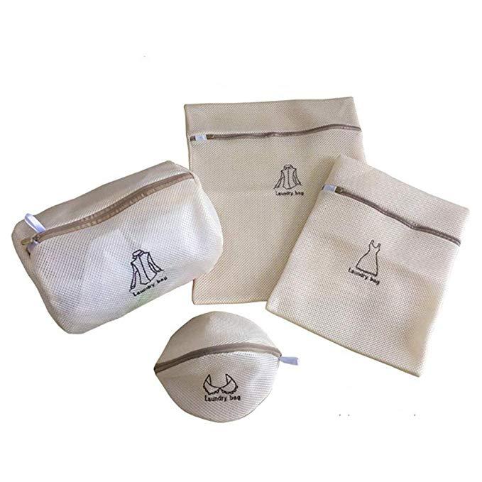 Rekukos 4-mảnh lưới túi giặt tinh tế, chất lượng cao dây kéo giặt ủi, áo sơ mi, đồ lót, đồ lót, du l