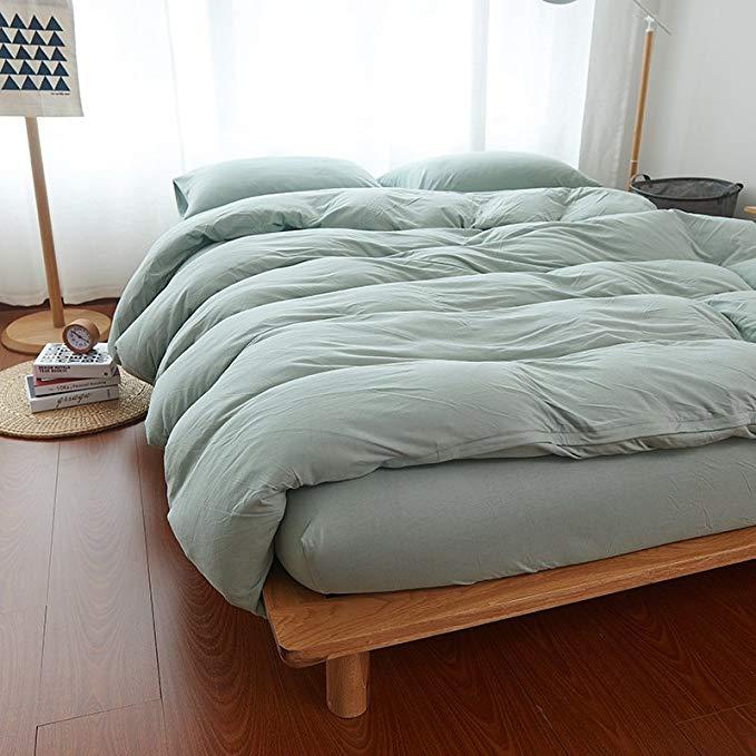 JHLongess Scorpio cotton mềm mại   -Bộ Drap giường vải cotton