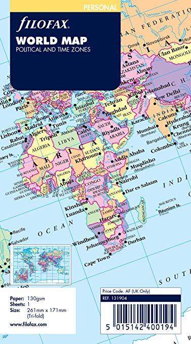 Bảng Đồ Thế giới : Filofax feifas 131904