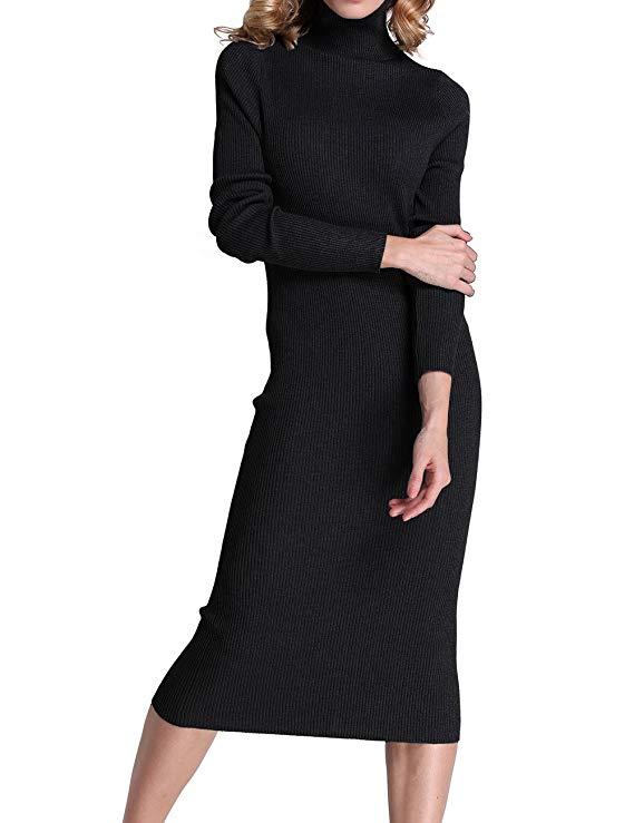 Đầm len Rocorose dài tay
