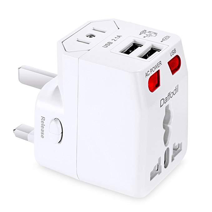 Daffodil WAP160 USB Travel Power Converter Phổ Travel Chuyển đổi Ổ cắm Đa chức năng Cắm Universal Ch
