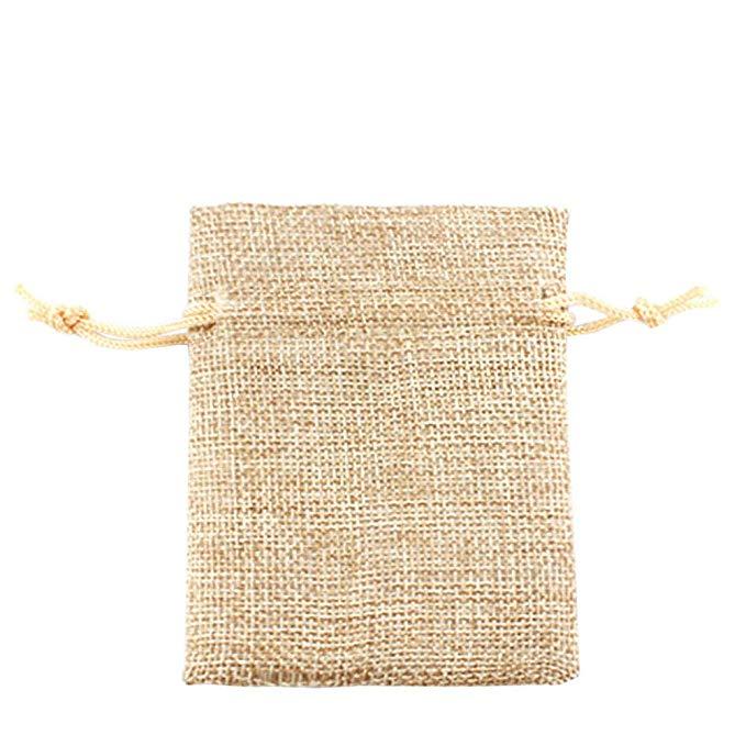 10 cái vải bố đồ trang sức túi dây kéo BAGS wedding party quà tặng trang sức quà tặng túi (40.64 cm