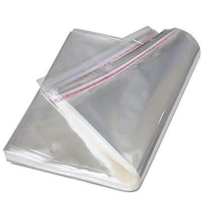 Yescom 200 cái OPP tự niêm phong băng trong suốt túi nhựa polyethylene 4.13 cm x 4.13 cm