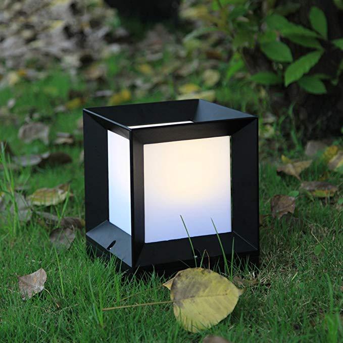 Tối giản hiện đại cỏ ánh sáng không ướt kem chống nắng vườn cỏ ánh sáng vuông mặt đất đèn bài đèn tư