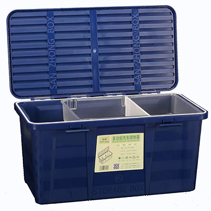 Phụ kiện xe ô tô : Thùng Nhựa  lưu trữ , màu xanh lá .