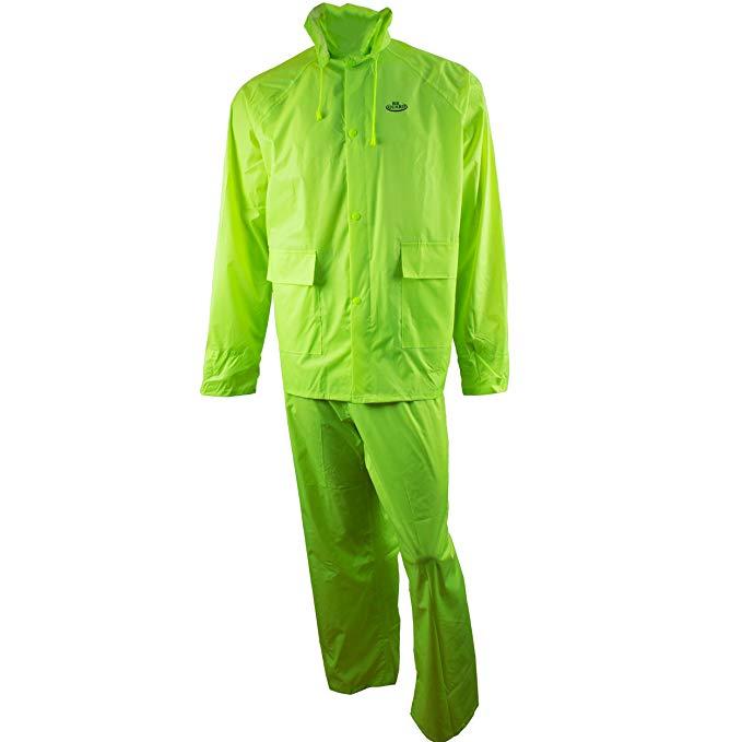 RK * Không ướt Mặc rw-pp PVC Polyester Áo mưa 3 mảnh | Áo khoác