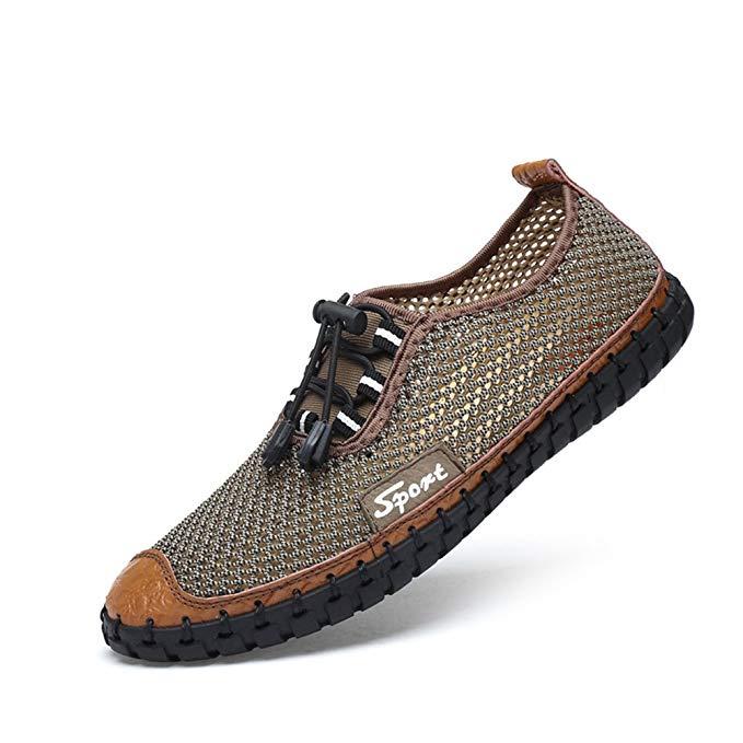 Giày Thể Thao lưới đế bằng nam chống trượt , Thương Hiệu : FeO DvKe - QX50-9013V