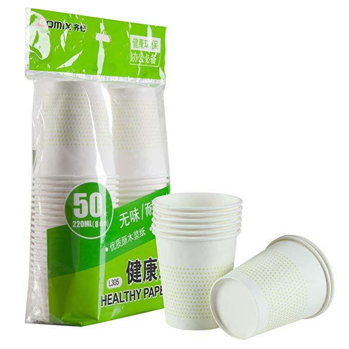 Cùng L305 bột giấy 190g gỗ 8 ounce dày cốc giấy dùng một lần 220ml 50-gói cốc giấy văn phòng 1