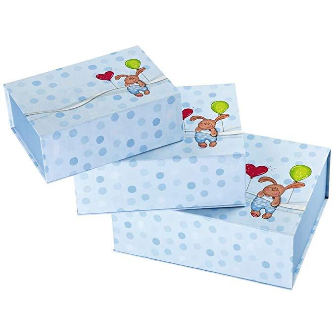 Hama Little Rabbit Gift Gói quà tặng Wrapper (Hộp quà tặng Set, Blue, Picture, 230 mm, 180 mm)